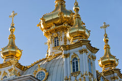 Kirche in Peterhof in St Petersburg, Russland Lizenzfreie Stockfotografie