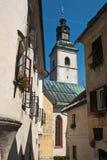 Kirche in Piran Lizenzfreie Stockbilder