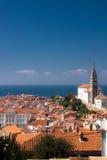 Kirche in Piran Stockbilder