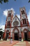 Kirche in Pondicherry, Indien lizenzfreies stockbild