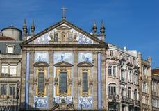 Kirche in Porto Stockbild