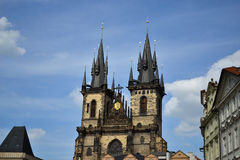 Kirche in Prag lizenzfreie stockfotos