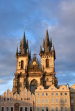 Kirche Prag-Tyn Lizenzfreie Stockfotografie