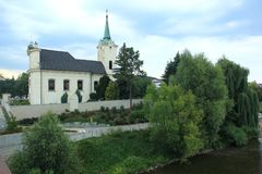 Kirche in PragueRadotin lizenzfreies stockbild