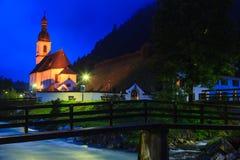 Kirche in Ramsau Stockbilder
