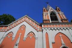 Kirche in Rasu-Kirchhof in Vilnius Stockbild