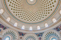 Kirche Rundbau von Mosta, Malta lizenzfreies stockbild