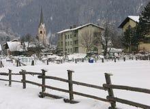 Kirche in Sachsenburg, Österreich Stockfotografie
