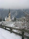 Kirche in Sachsenburg, Österreich Lizenzfreies Stockfoto