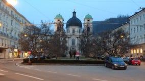 Kirche in Salzburg Stockbild
