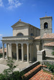 Kirche in San Marino Stockbild