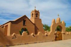 Kirche in San Pedro de Atacama Stockfoto