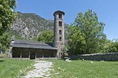 Kirche Sankt-Coloma bei Andorra Stockfotos
