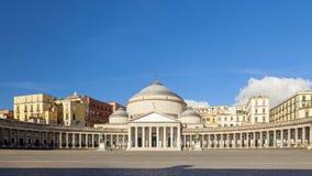 Kirche Sans Francesco di Paola in der Stadt von Neapel lizenzfreie stockfotografie