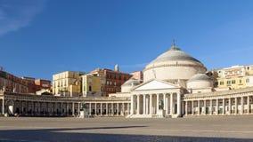 Kirche Sans Francesco di Paola in der Stadt von Neapel lizenzfreie stockfotos