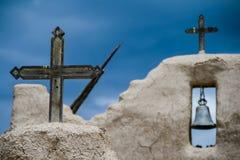 Kirche Sans Lorenzo de Picuris im New Mexiko Stockbild