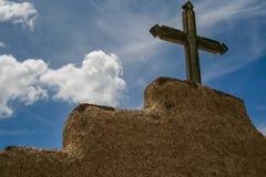 Kirche Sans Lorenzo de Picuris im New Mexiko Lizenzfreies Stockbild
