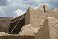 Kirche Sans Lorenzo de Picuris im New Mexiko Lizenzfreie Stockfotografie