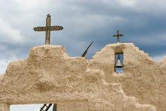 Kirche Sans Lorenzo de Picuris im New Mexiko Lizenzfreie Stockbilder