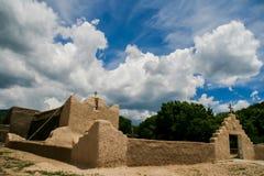 Kirche Sans Lorenzo de Picuris im New Mexiko Lizenzfreies Stockfoto