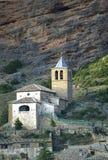 Kirche Sans Martins, Riglos, Spanien Stockbilder