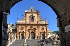 Kirche Sans Pietro in Modica Lizenzfreies Stockbild