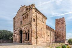 Kirche Sant Antioco di Bisarcio nahe Ozieri stockfotografie