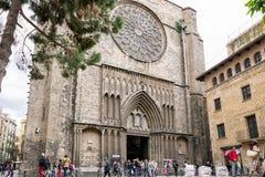 Kirche Santa Maria del Pi, Barcelona - Spanien Stockbilder
