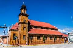 Kirche Santa Rosa in Oxapampa, Peru Lizenzfreies Stockbild