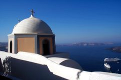 Kirche in Santorini 2 Stockfotos