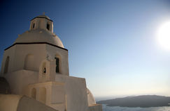 Kirche in Santorini Stockfoto