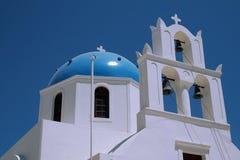 Kirche in Santorini Stockbilder