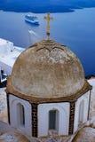 Kirche in Santorini Griechenland lizenzfreie stockbilder