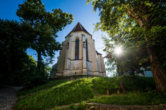 Kirche in Sighisoara Stockfotografie