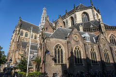 Kirche Sint Bavo in Haarlem stockfotos