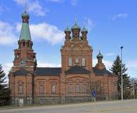 Kirche St. Alexander Nevski Orthodox von Tampere Lizenzfreies Stockbild