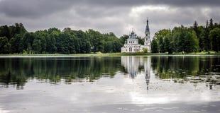 Kirche St. Alexander Nevsky in Stameriena, Lettland Lizenzfreie Stockbilder