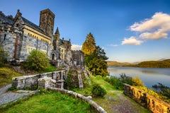 Kirche St. Conans gelegen in der Loch-Ehrfurcht, Schottland lizenzfreies stockbild