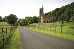 Kirche St. Etheldreda, Exmoor Stockbilder