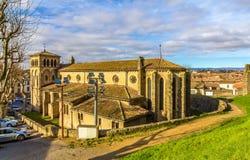 Kirche St. Gimer in Carcassonne Stockbild
