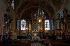 Kirche St Mary s in Krakau-Innenraum stockbild