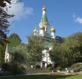 Kirche St. Nicholas Russian in Sofia, Bulgarien Lizenzfreie Stockfotos