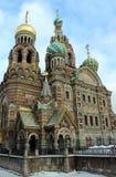 Kirche in St Petersburg, Russland stockbilder