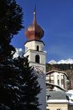 Kirche St. Theodul in Davos Stockfoto