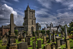 Kirche in Stirling Graveyard lizenzfreies stockfoto
