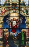 Kirche Str.-Gertrudes in Gamla Stan Stockfotos