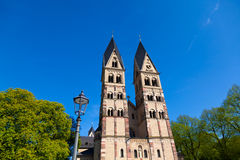 Kirche Str.-Kastor in Koblenz Stockbild