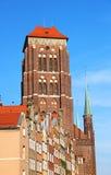Kirche Str.-Marys, Gdansk, Polen Stockbild