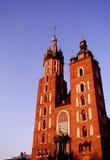 Kirche Str.-Marys, Kraków Stockbilder