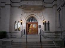 Kirche-Türen Stockfoto